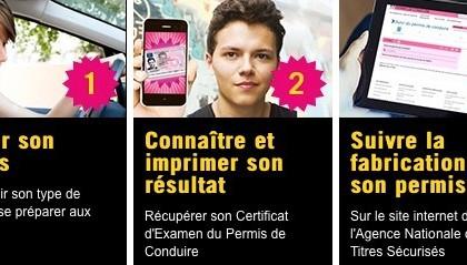 Les résultats du permis de conduire en ligne